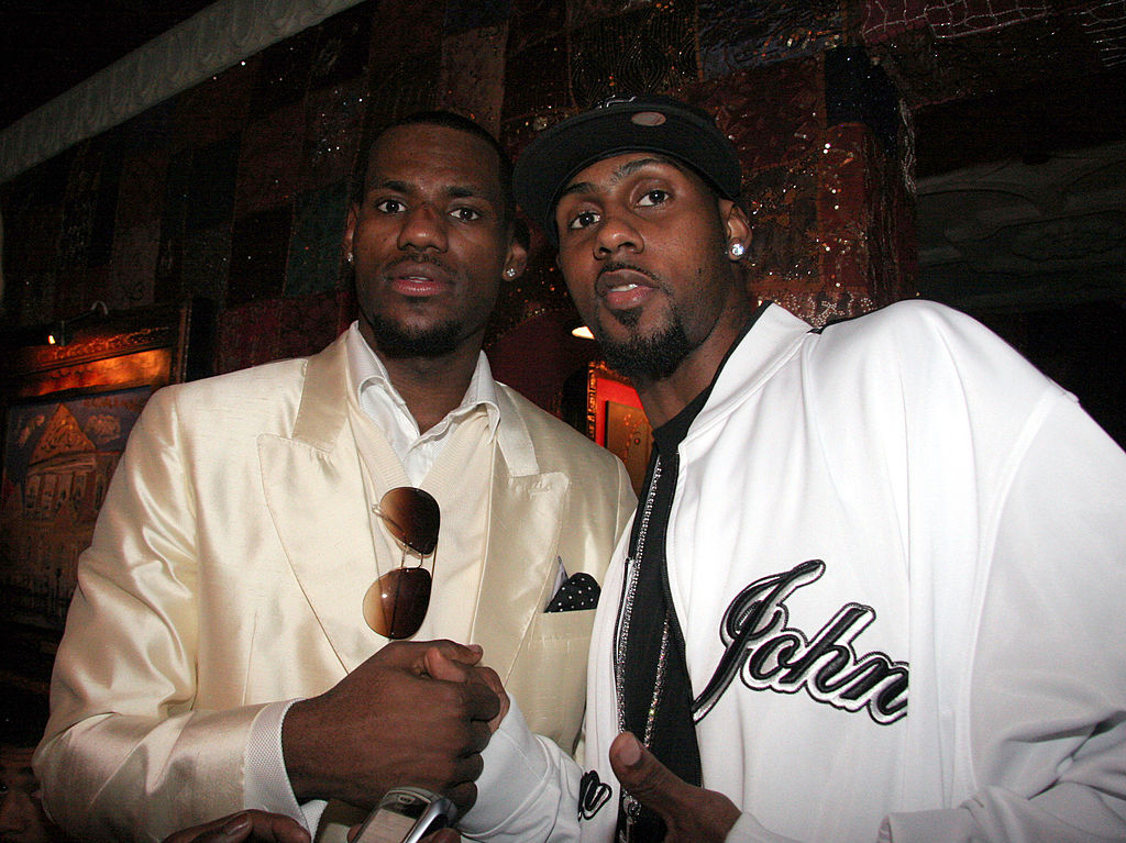 LeBron James and Larry Hughes in 2005