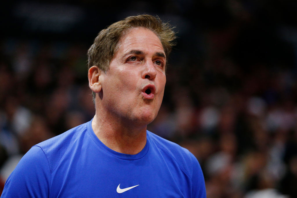 Mark Cuban reacting to a Dallas Mavericks game