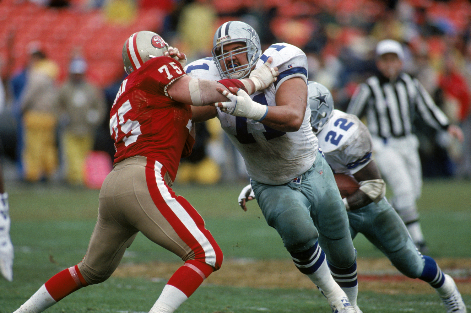 Mark Tuinei helped lead the Dallas Cowboys' o-line when they won three Super Bowls in four years. He tragically died soon after his career.