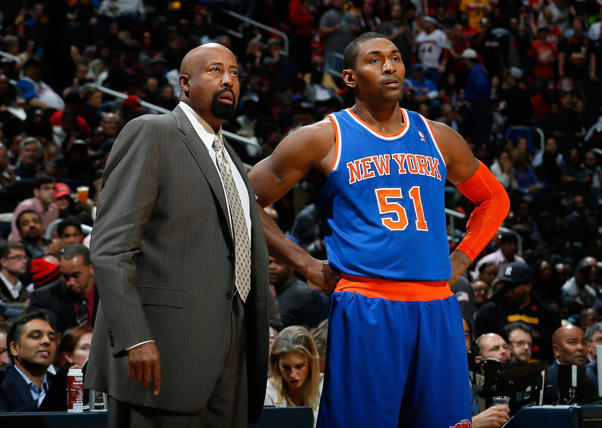 Coaching the New York Knicks would be a dream job for Metta Sandiford-Artest.