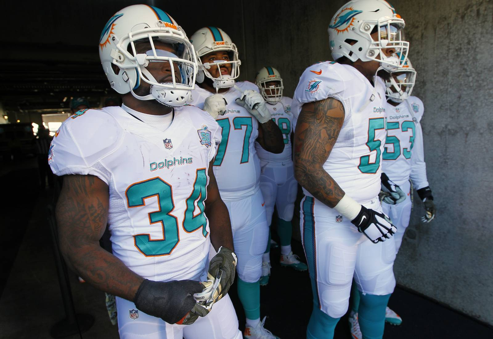 The Miami Dolphins once drafted a linebacker who was blind in one eye.