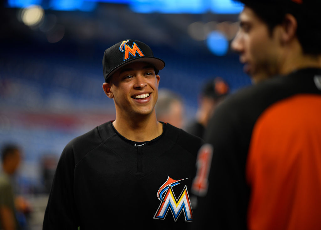 The Miami Marlins draft pick Joe Dunand visit Marlins Park in 2017