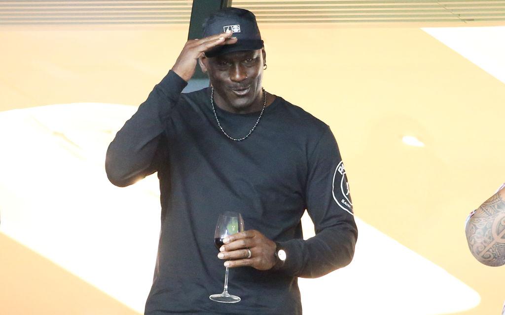Michael Jordan attends a soccer game