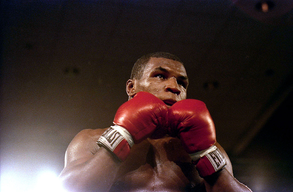 Mike Tyson looks to take a punch in 1986