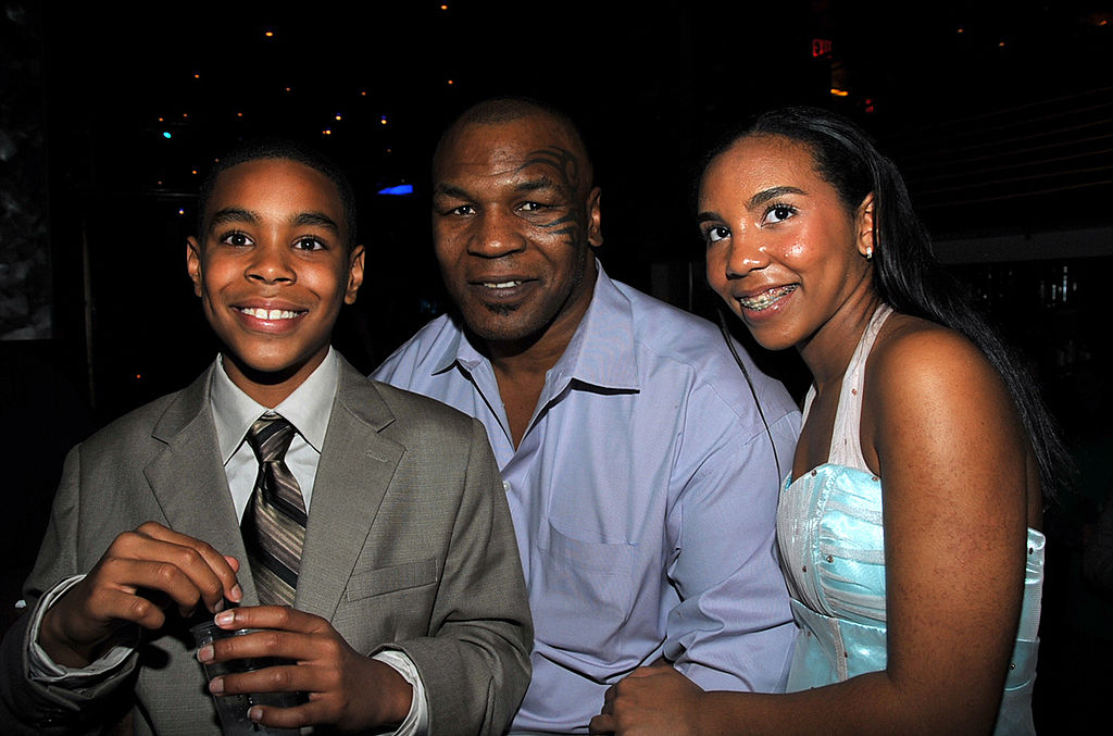 Mike Tyson pictured with his son Amir and daughter Rayna in 2009