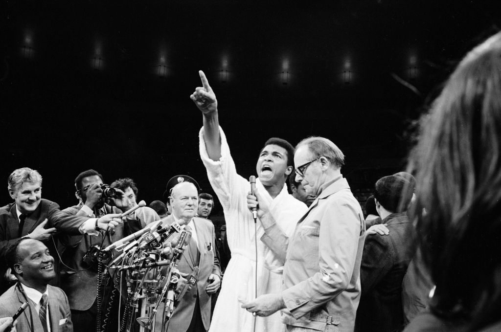 Muhammad Ali's trash talk set the stage for modern rappers.