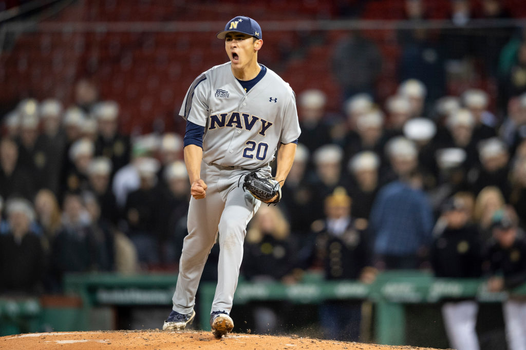 Noah Song is a pitching prospect for the Boston Red Sox. The former Navy baseball standout is now taking a year off from baseball to attend flight school.