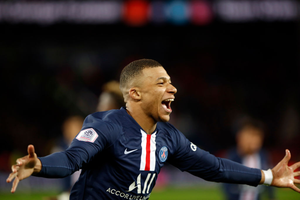 Paris Saint-Germain's French forward Kylian Mbappe