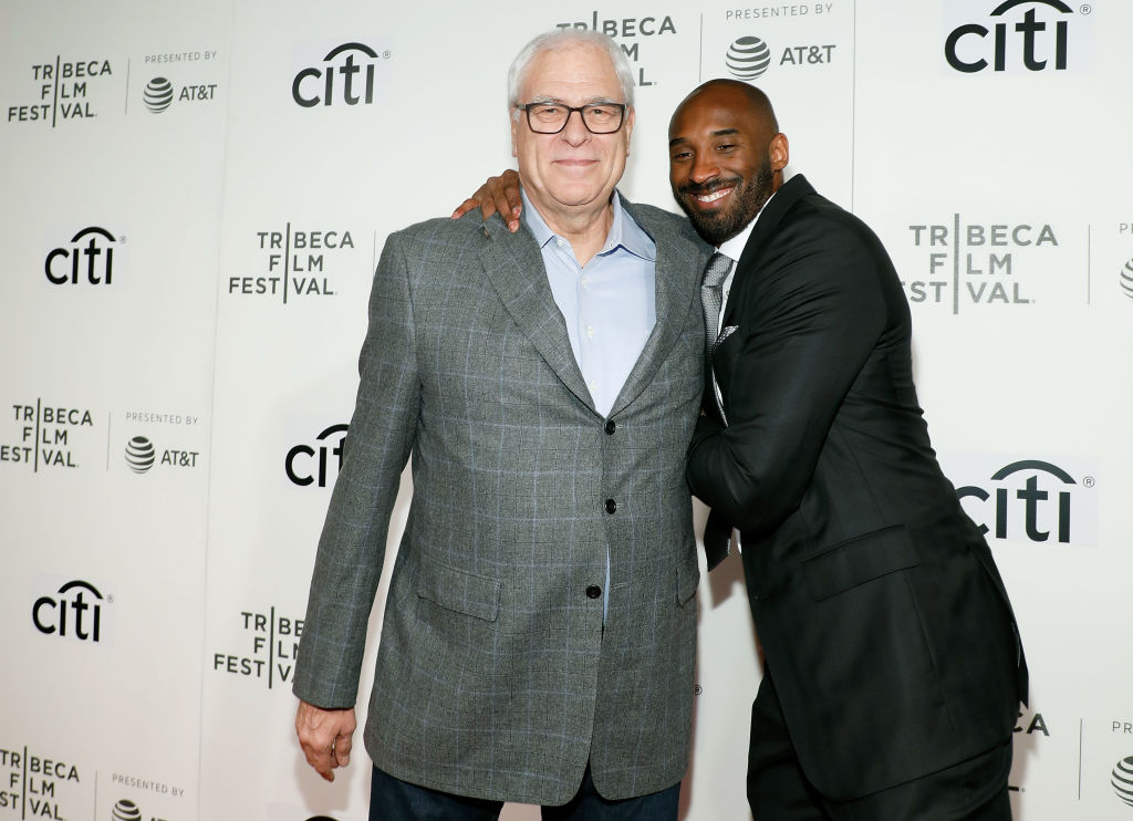 Phil Jackson and Kobe Bryant attend the 2017 Tribeca Talks