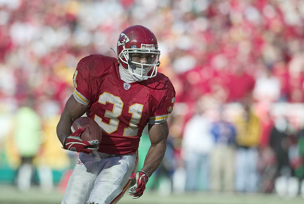 Chiefs running back Priest Holmes