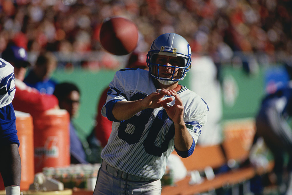 Seattle Seahawks' wide receiver Steve Largent in 1978