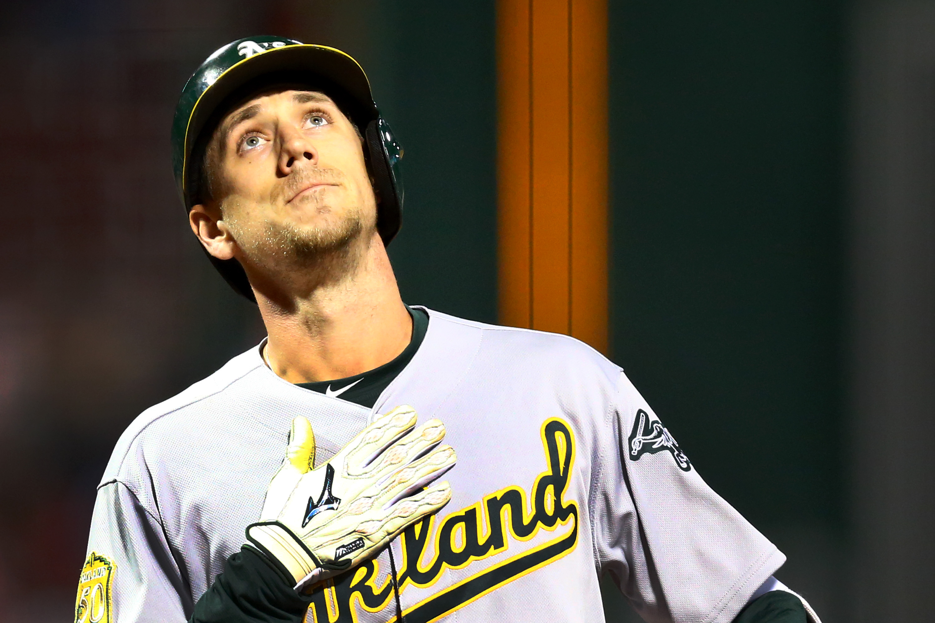 Oakland Athletics outfielder Stephen Piscotty homered in his first game after his mother died in May 2018.