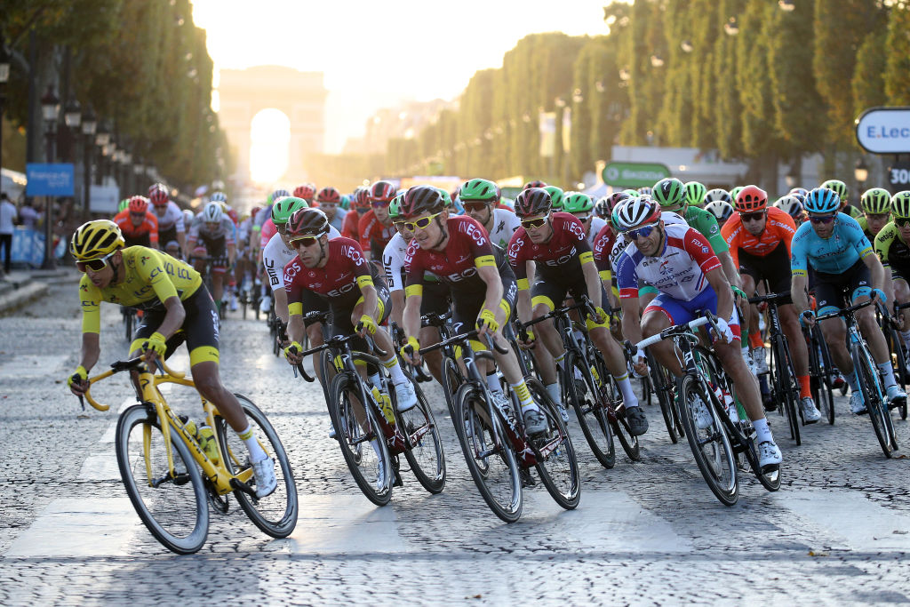 Cyclists compete in the 2019 Tour de France