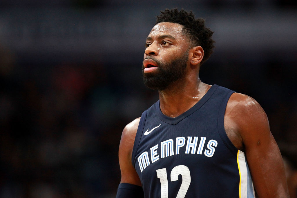 Tyreke Evans looks on during a Memphis Grizzlies game