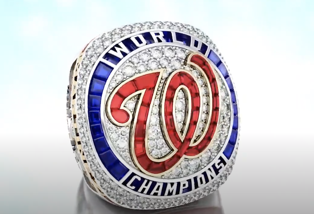 The Washington Nationals' 2019 World Series ring