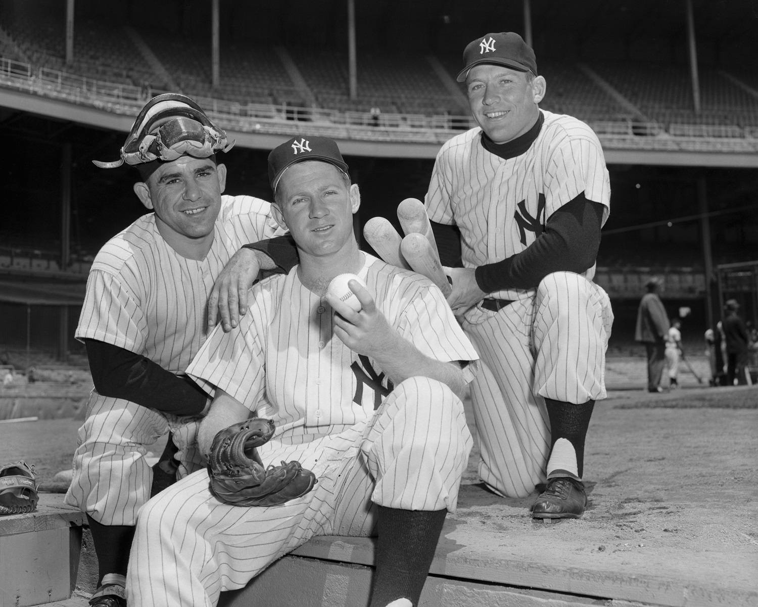Yogi Berra; Whitey Ford, and Mickey Mantle were fixtures on some great New York Yankees teams. | Herb Scharfman/Getty Images