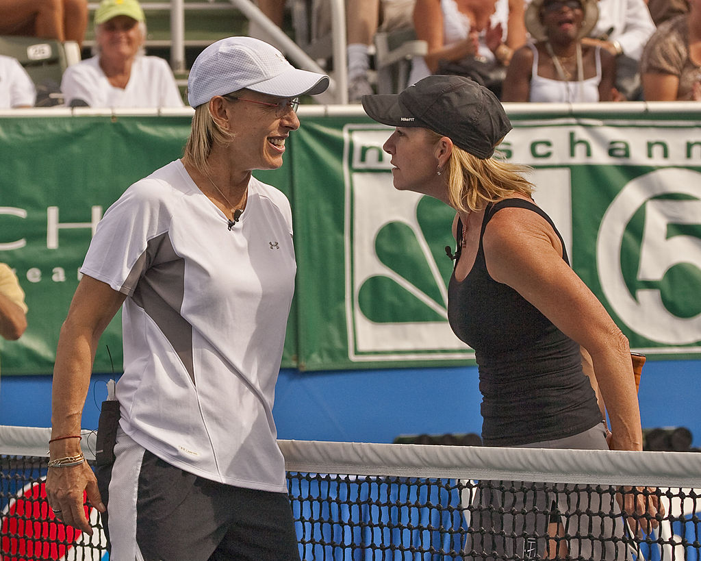 Tennis legends Chris Evert and Martina Navratilova