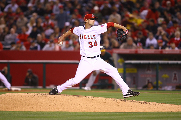 Nick Adenhart pitching