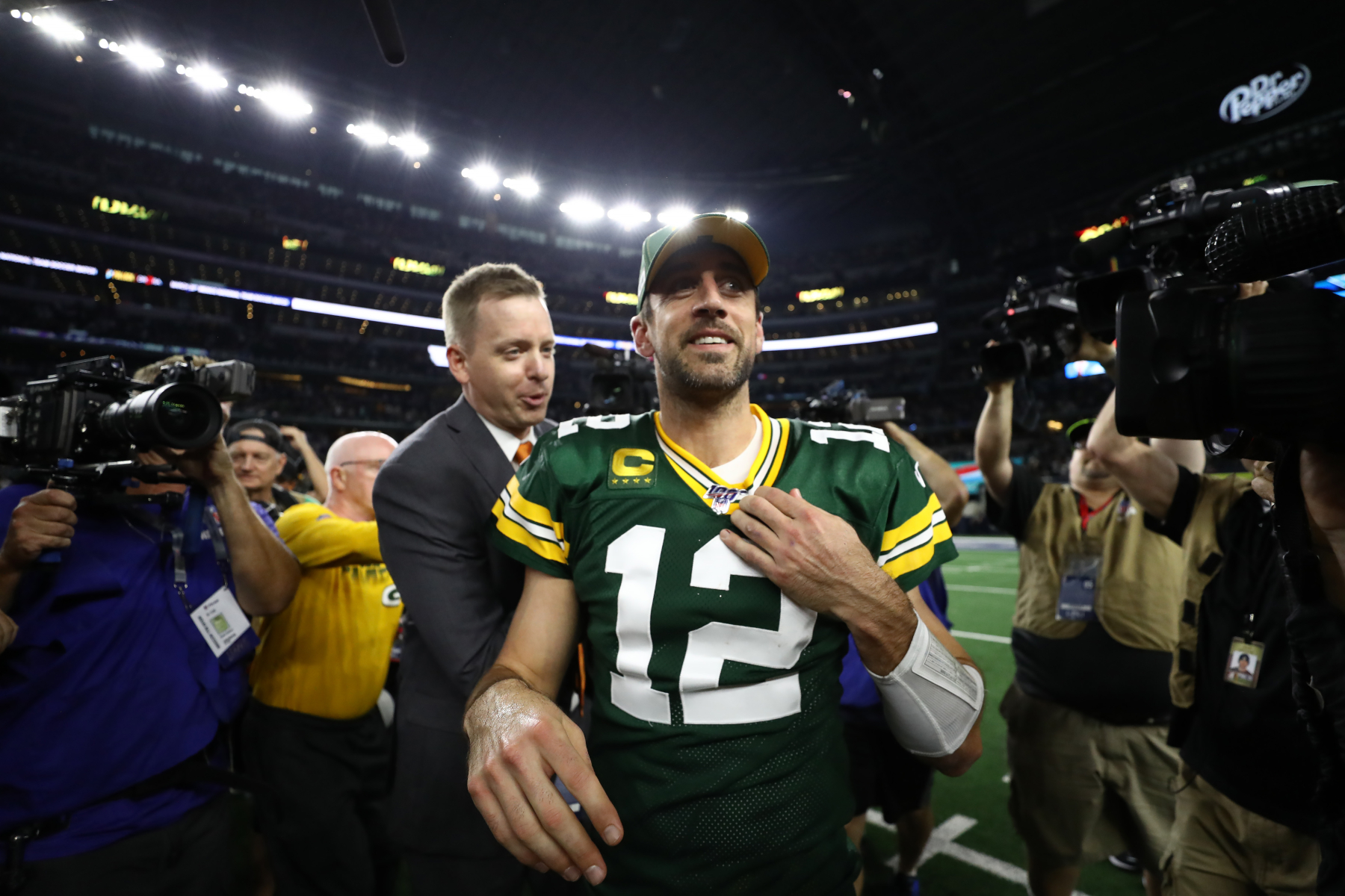 While being an NFL star for the Packers, Aaron Rodgers has had multiple high-profile relationships and even got engaged to someone else.