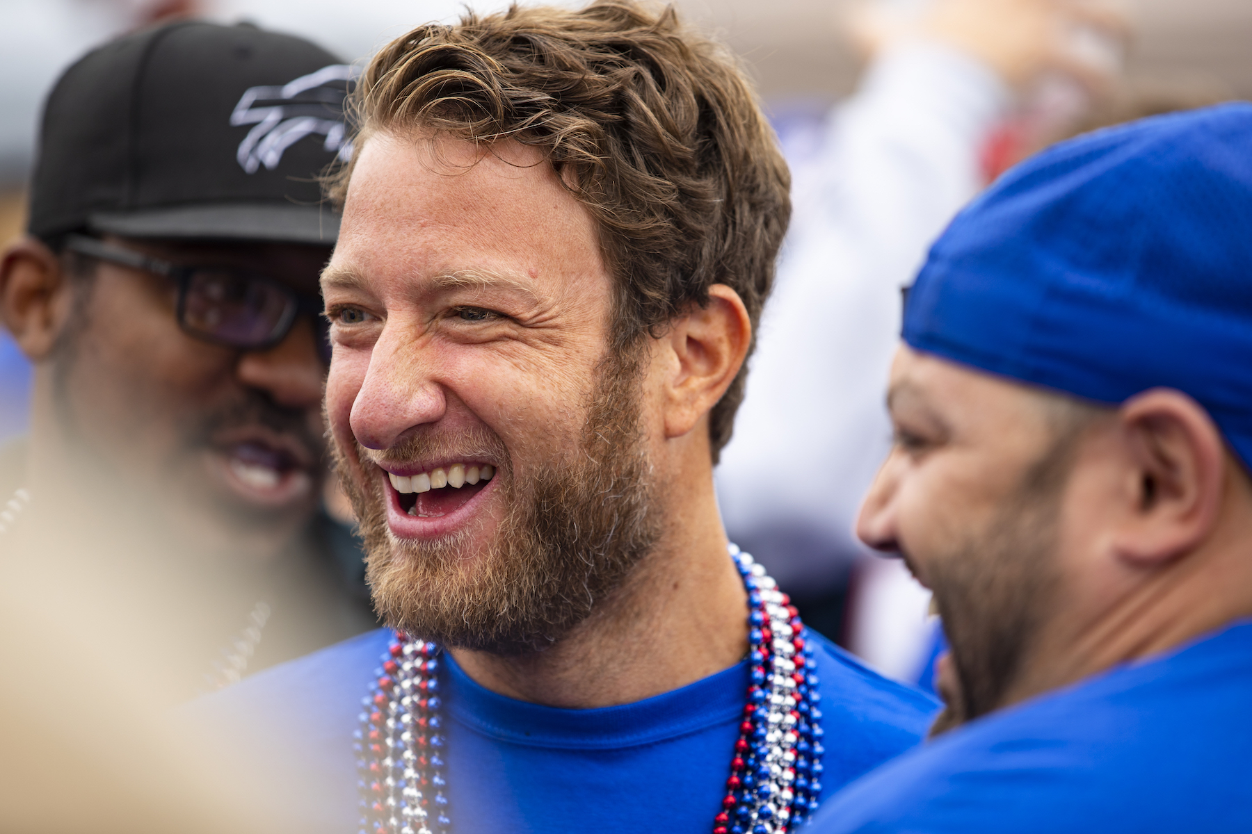 Barstool Sports founder Dave Portnoy attends a Buffalo Bills tailgate