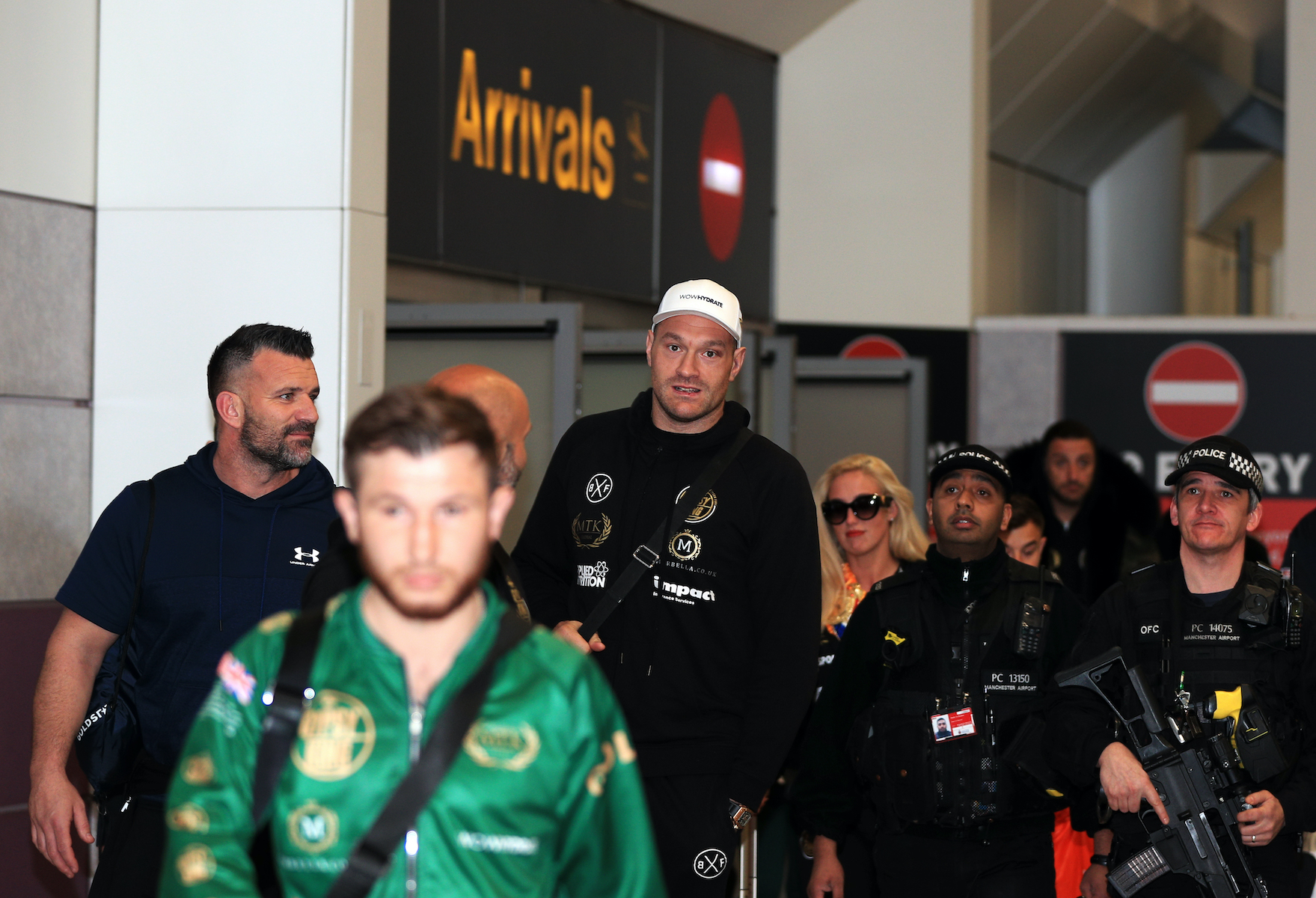 Tyson Fury at the airport
