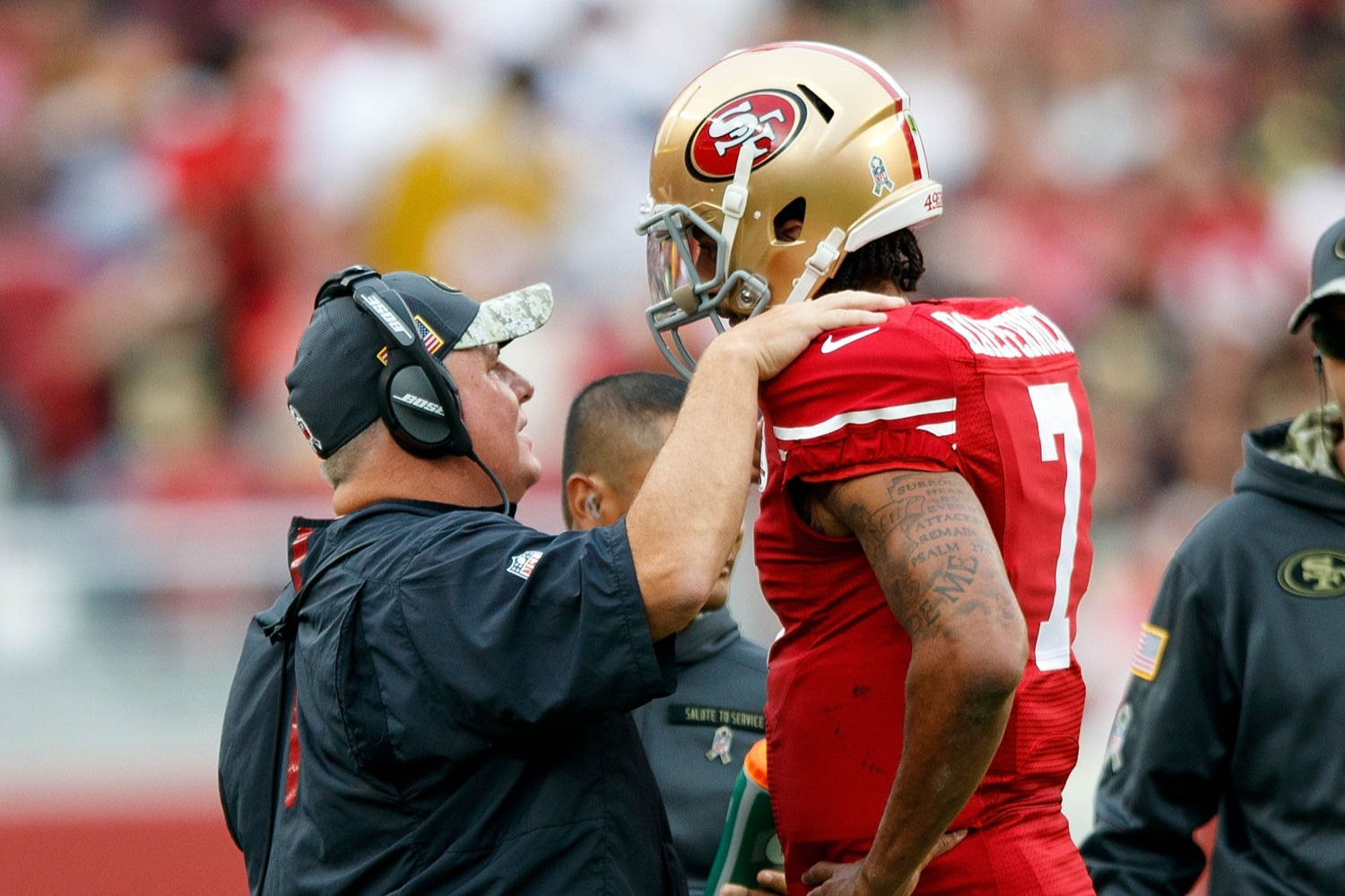 Chip Kelly supported Colin Kaepernick after the 49ers QB took a knee during the national anthem in 2016.