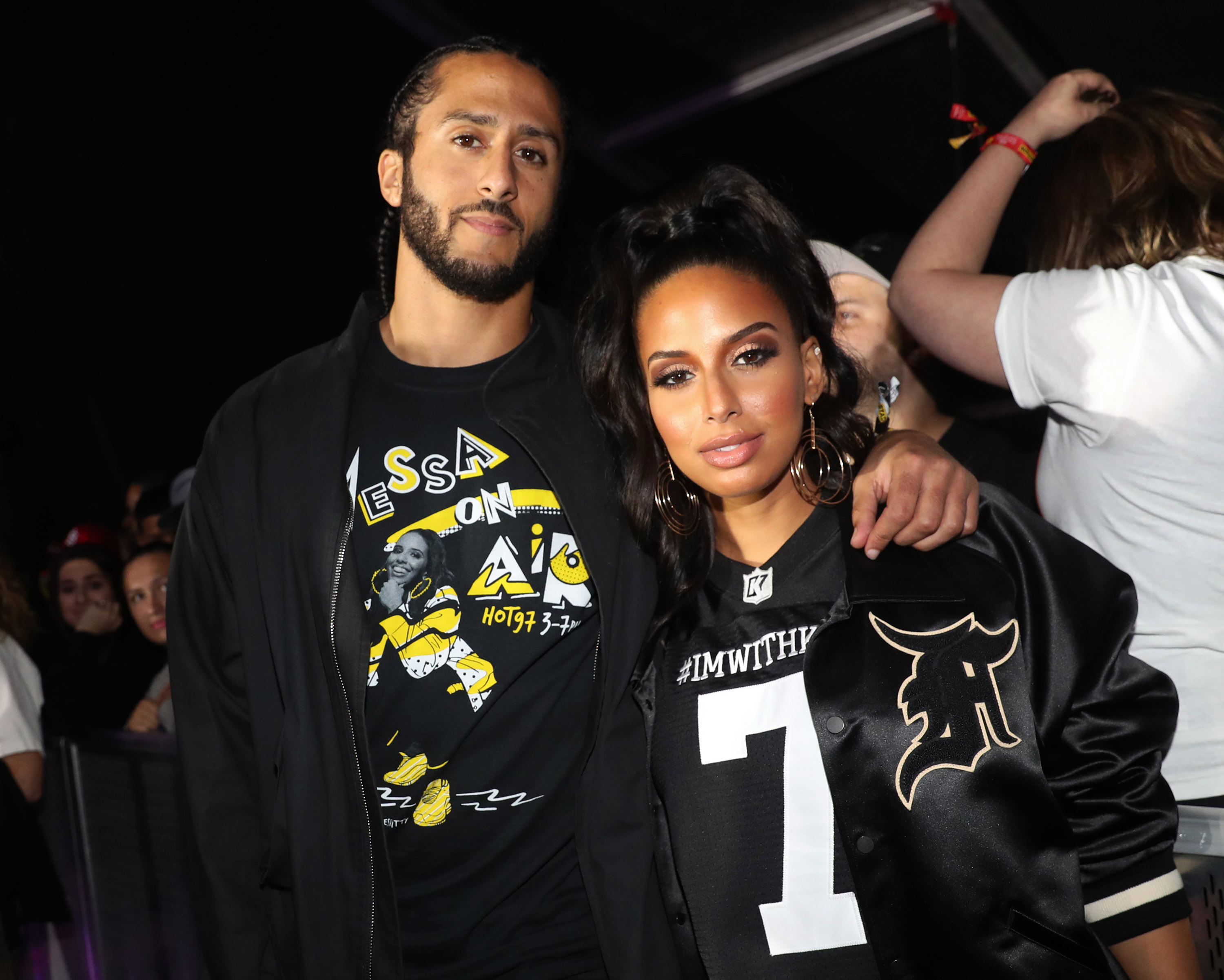 Former NFL player Colin Kaepernick and Nessa