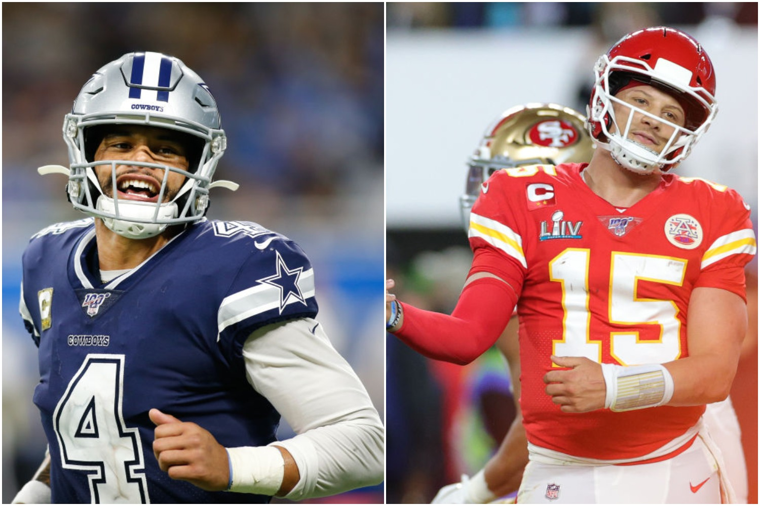 Dak Prescott and Patrick Mahomes will be two of the highest-paid quarterbacks in the NFL in 2020.