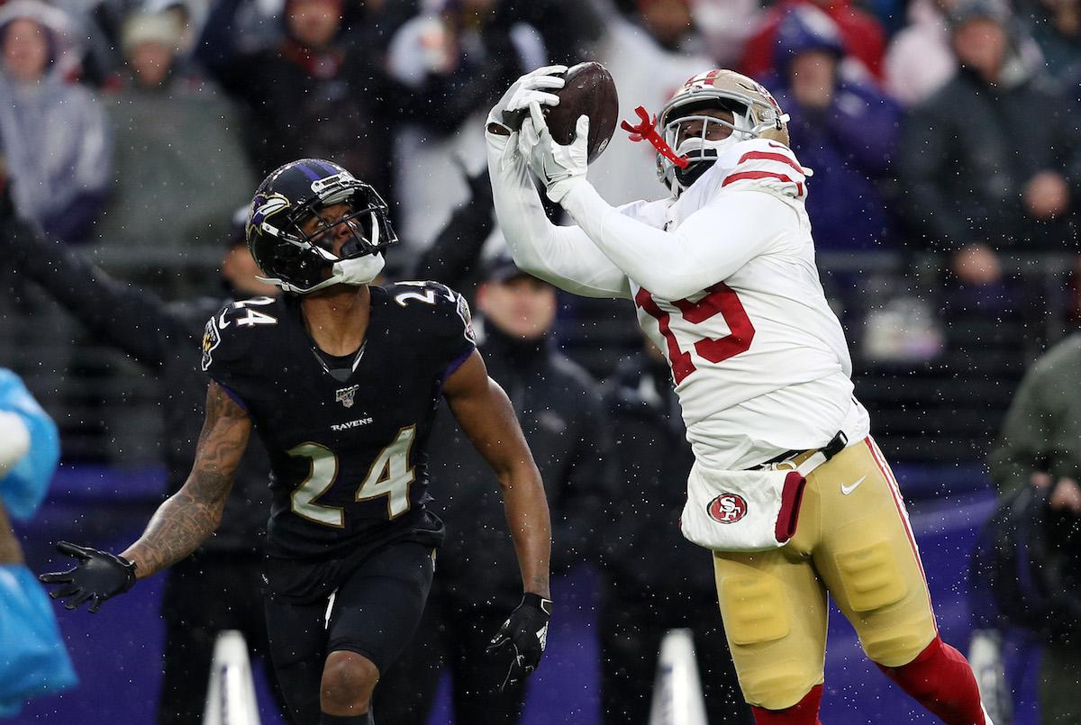 Deebo Samuel making the catch