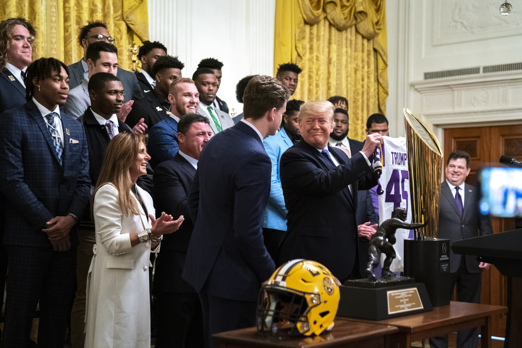 President Donald Trump talked about football in a conference call recently, and he made multiple false statements while discussing it.