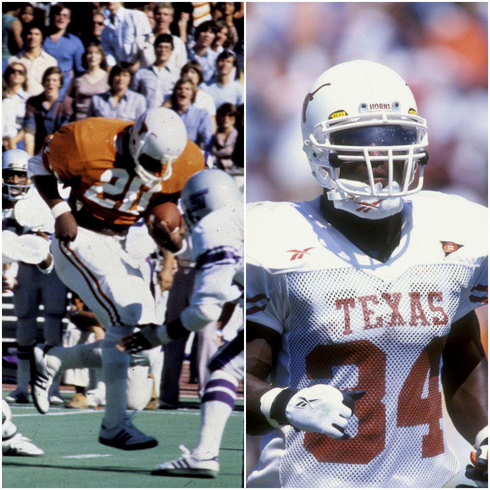 Ricky Williams and Earl Campbell