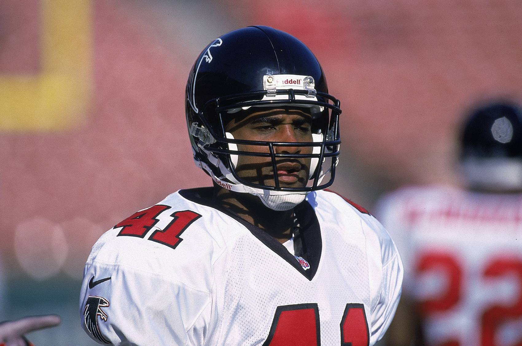 Eugene Robinson was famously arrested before his Atlanta Falcons lost in the Super Bowl.