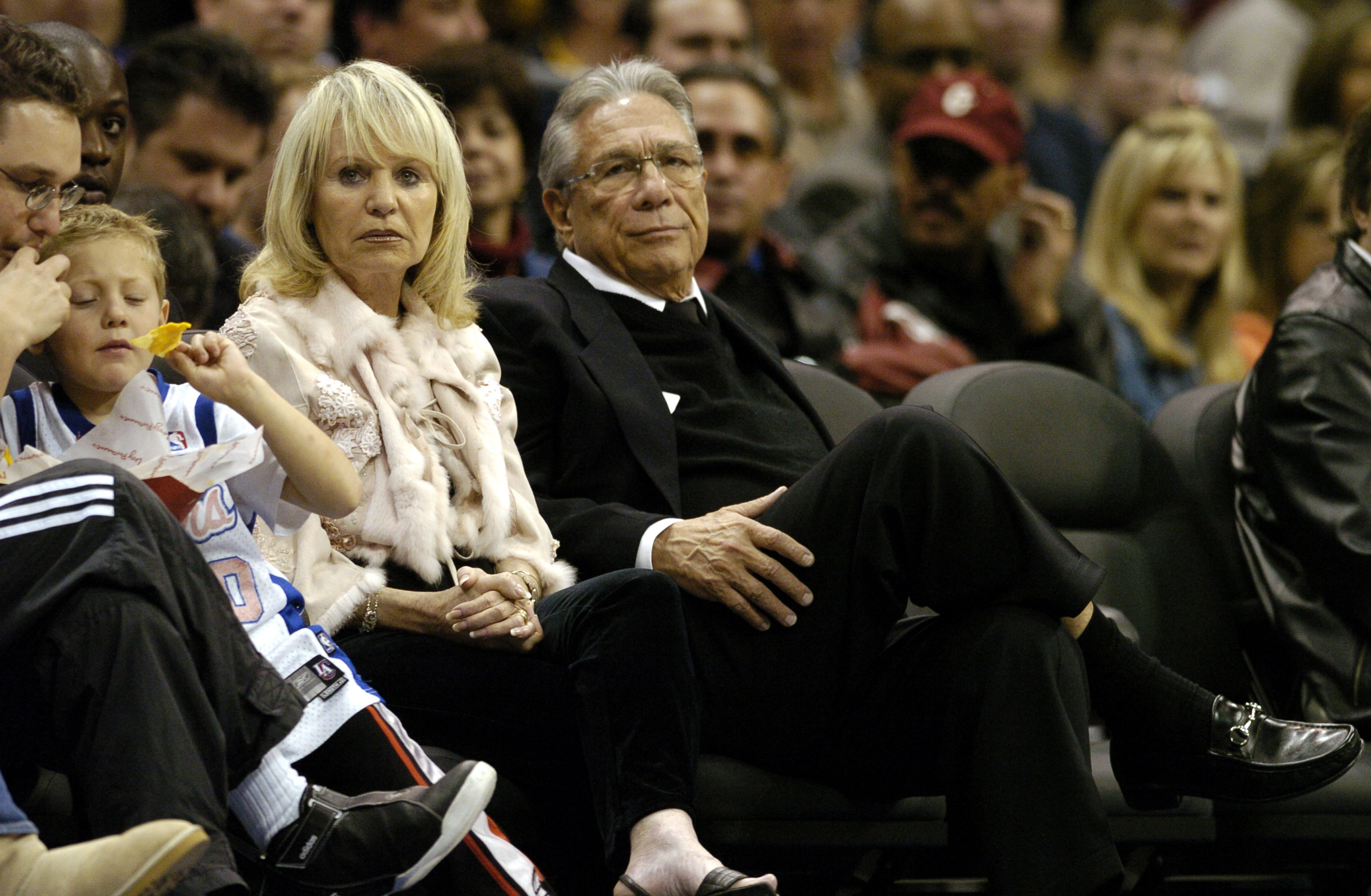 Los Angeles Clippers owner Donald Sterling and wife