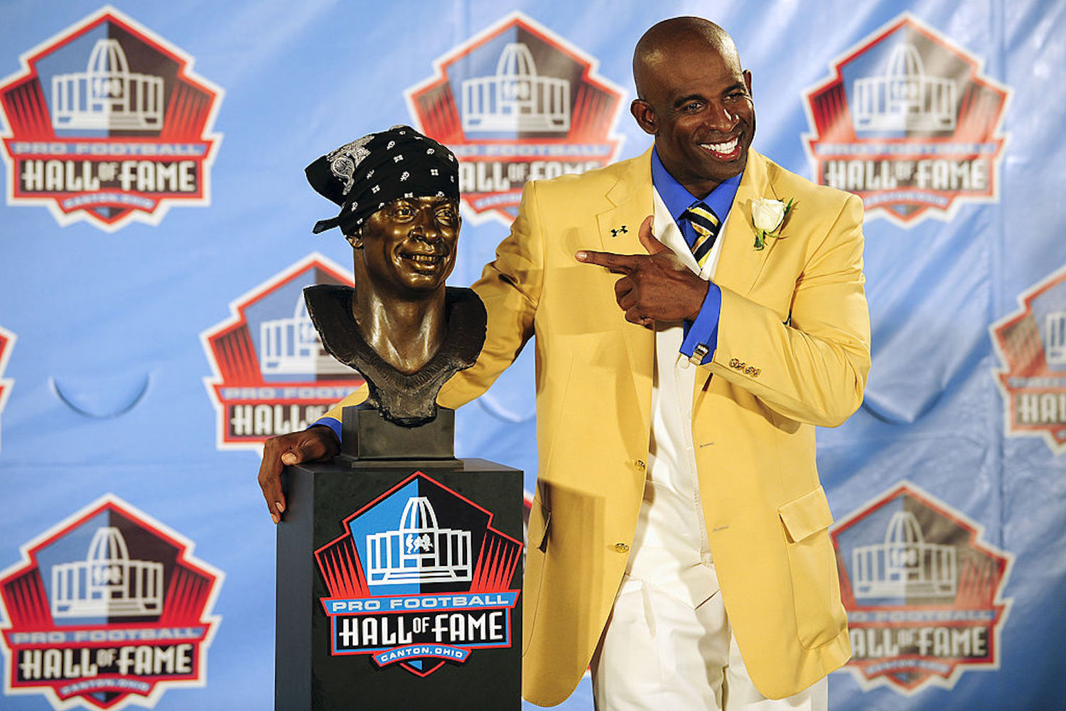 Deion Sanders was inducted into the Pro Football Hall of Fame in 2011, but he didn't receive the news from anyone involved in the NFL.