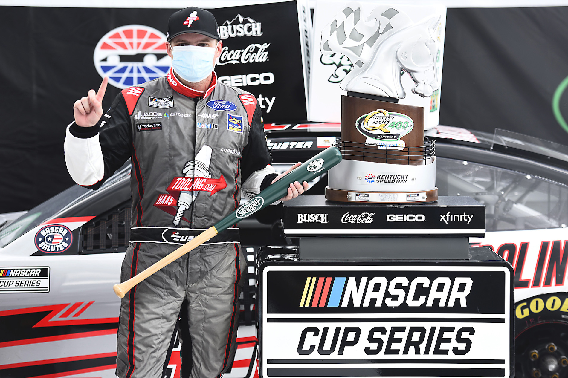 Cole Custer was a 250/1 longshot to win NASCAR's Quaker State 400 on Sunday, and his unlikely win made one lucky bettor a fortune.
