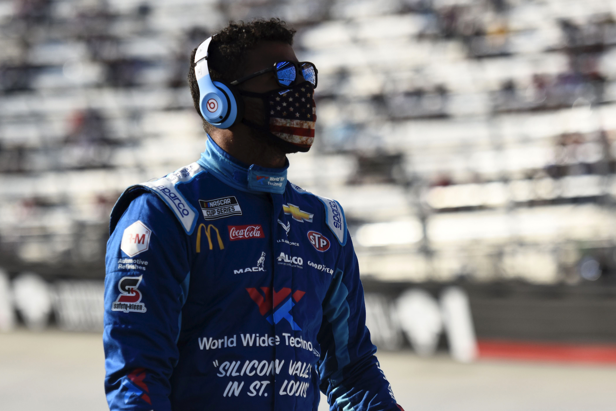 Bubba Wallace is not too happy after crashing out of the All-Star qualifying race and missing out on the chance to win $1.4 million.