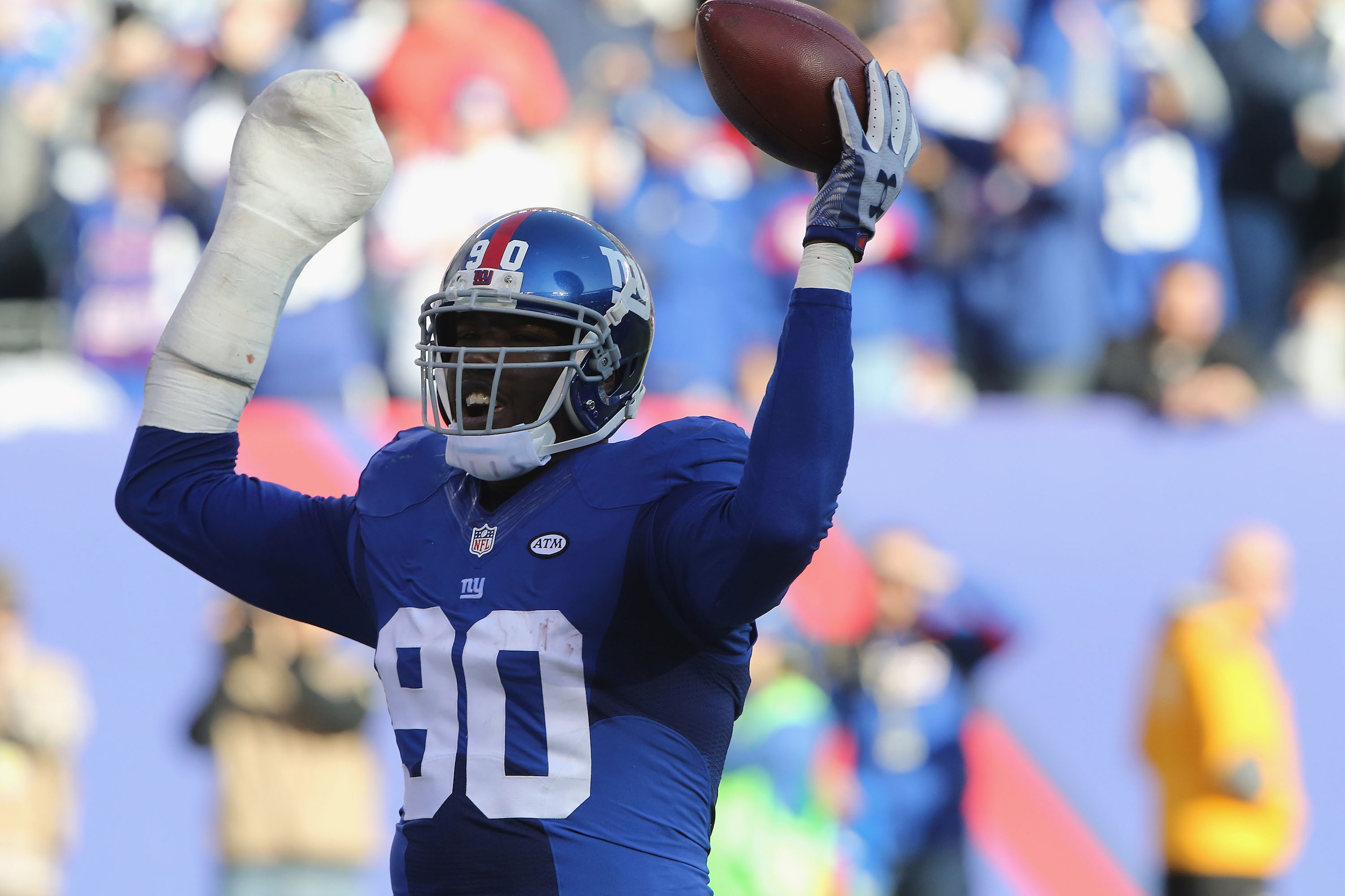 Jason Pierre-Paul suffered a serious hand injury setting off fireworks in 2015.