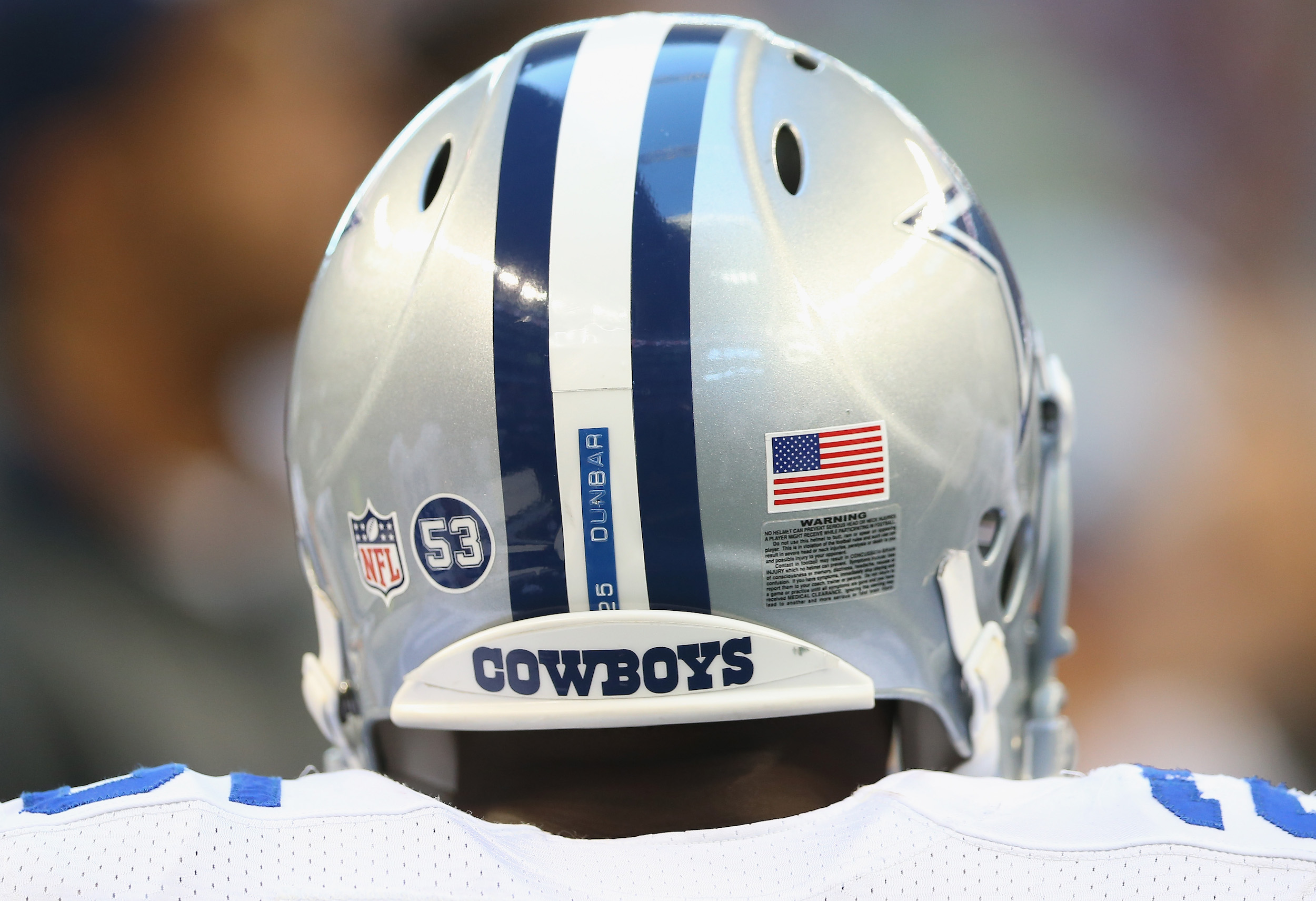 The Dallas Cowboys put 53 on their helmets, honoring the tragic death of Jerry Brown.
