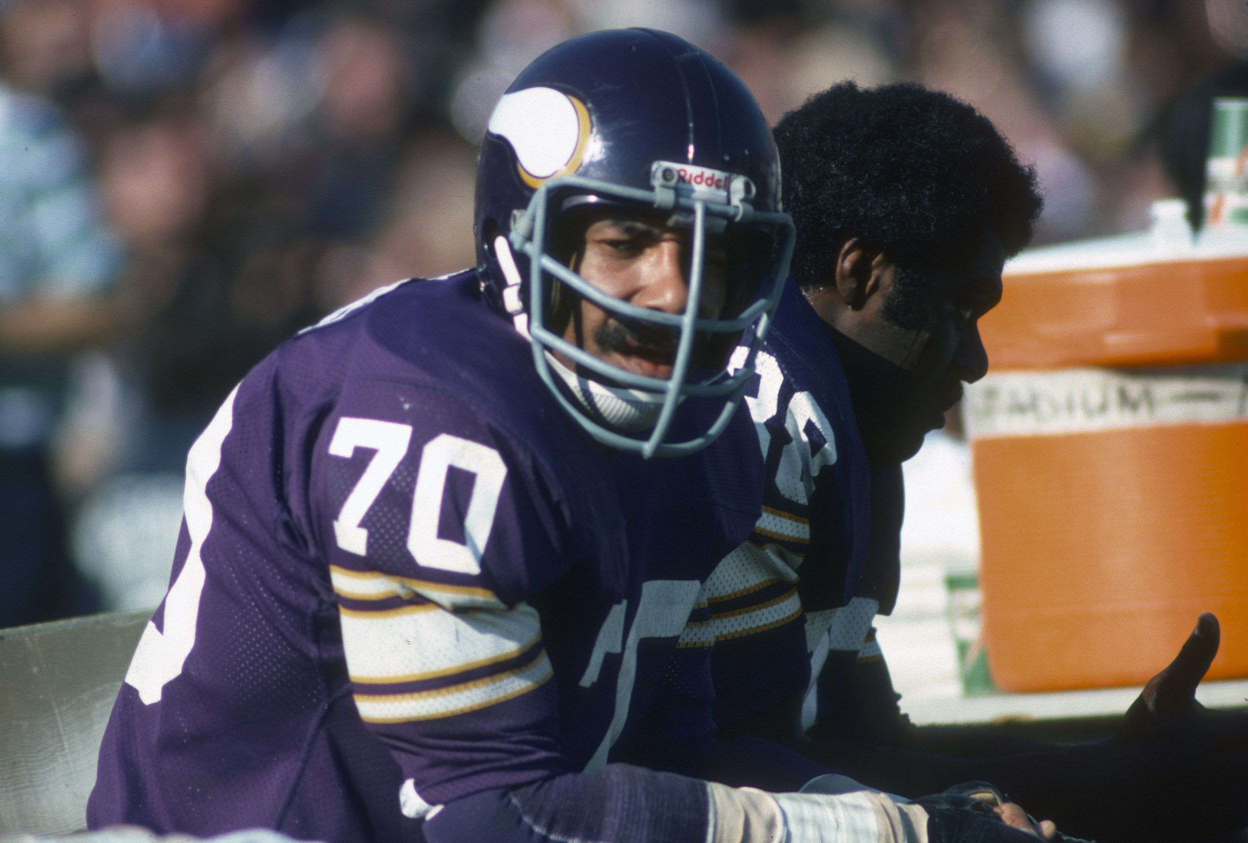 Minnesota Vikings defensive end Jim Marshall survived in a blizzard by literally burning money.
