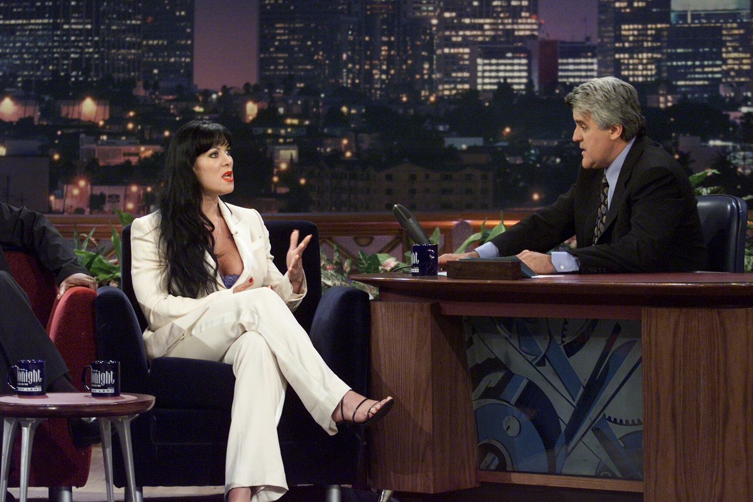 Chyna appeared on 'The Tonight Show' with Jay Leno in 2000. | Paul Drinkwater/NBCU Photo Bank/NBCUniversal via Getty Images