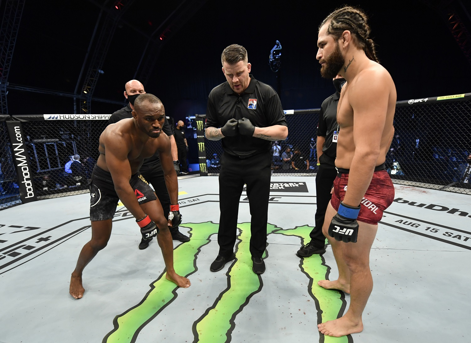 Kamaru Usman vs. Jorge Masvidal proved to be a popular UFC 251 fight despite Masvidal having to be brought in at the last minute. | Jeff Bottari/Zuffa LLC/Getty Images