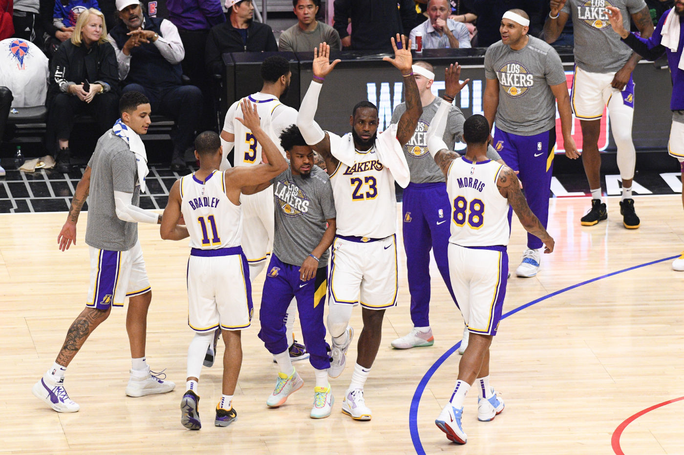 While the Los Angeles Lakers prepare to resume their season, one Lakers player not named LeBron James or Anthony Davis is dominating.