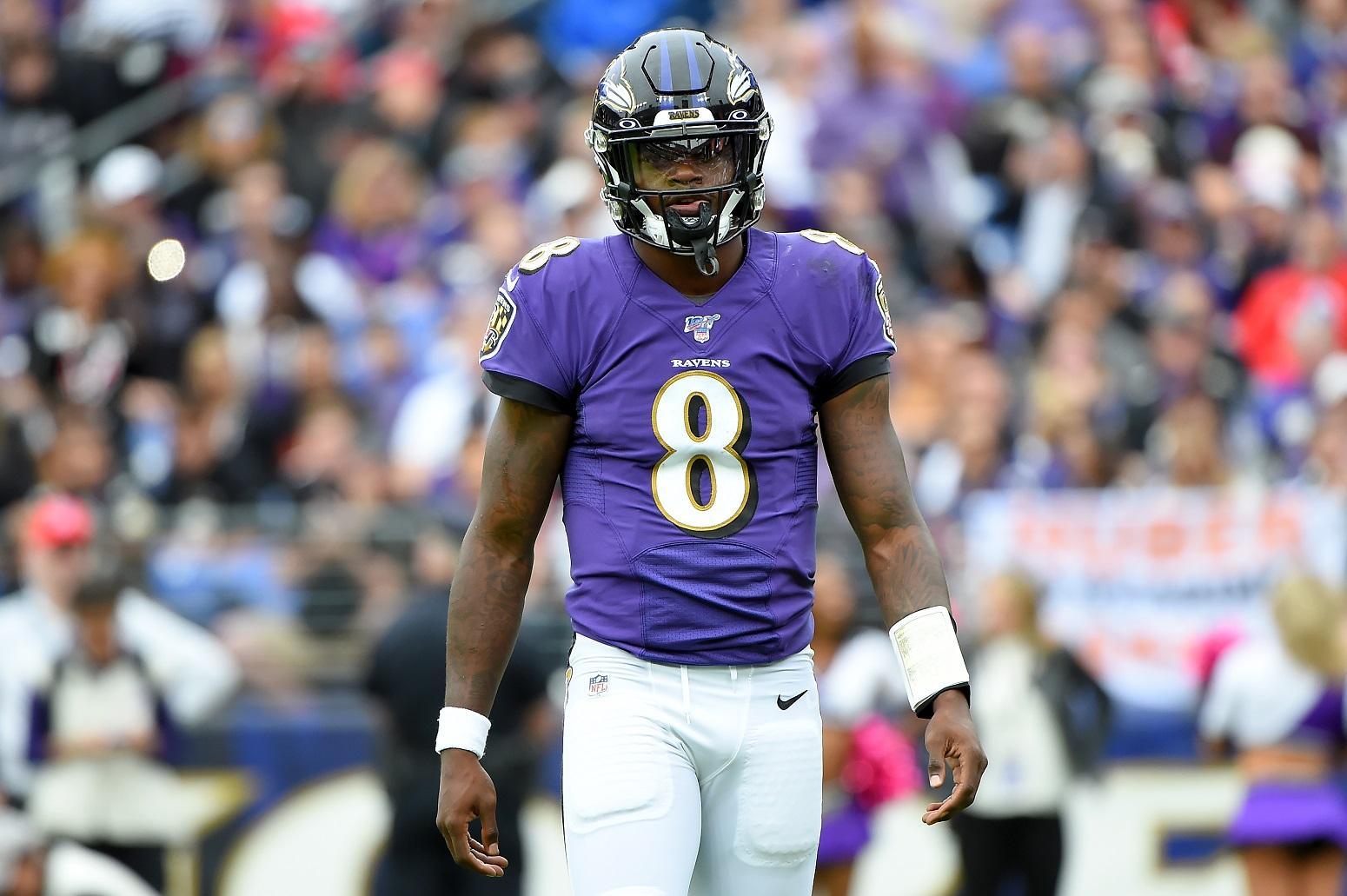 Lamar Jackson Antonio Brown Ravens