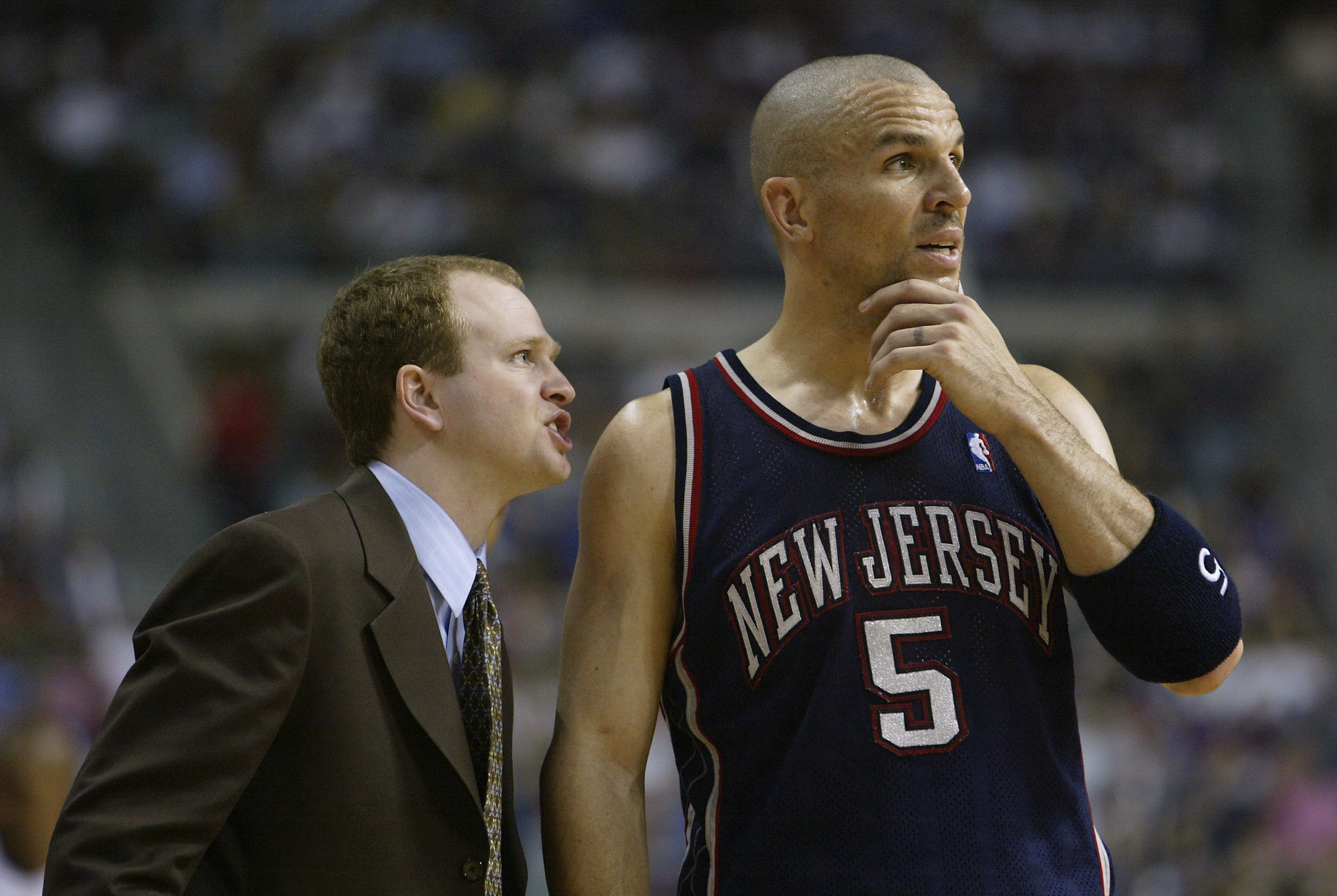 Lawrence Frank and Jason Kidd