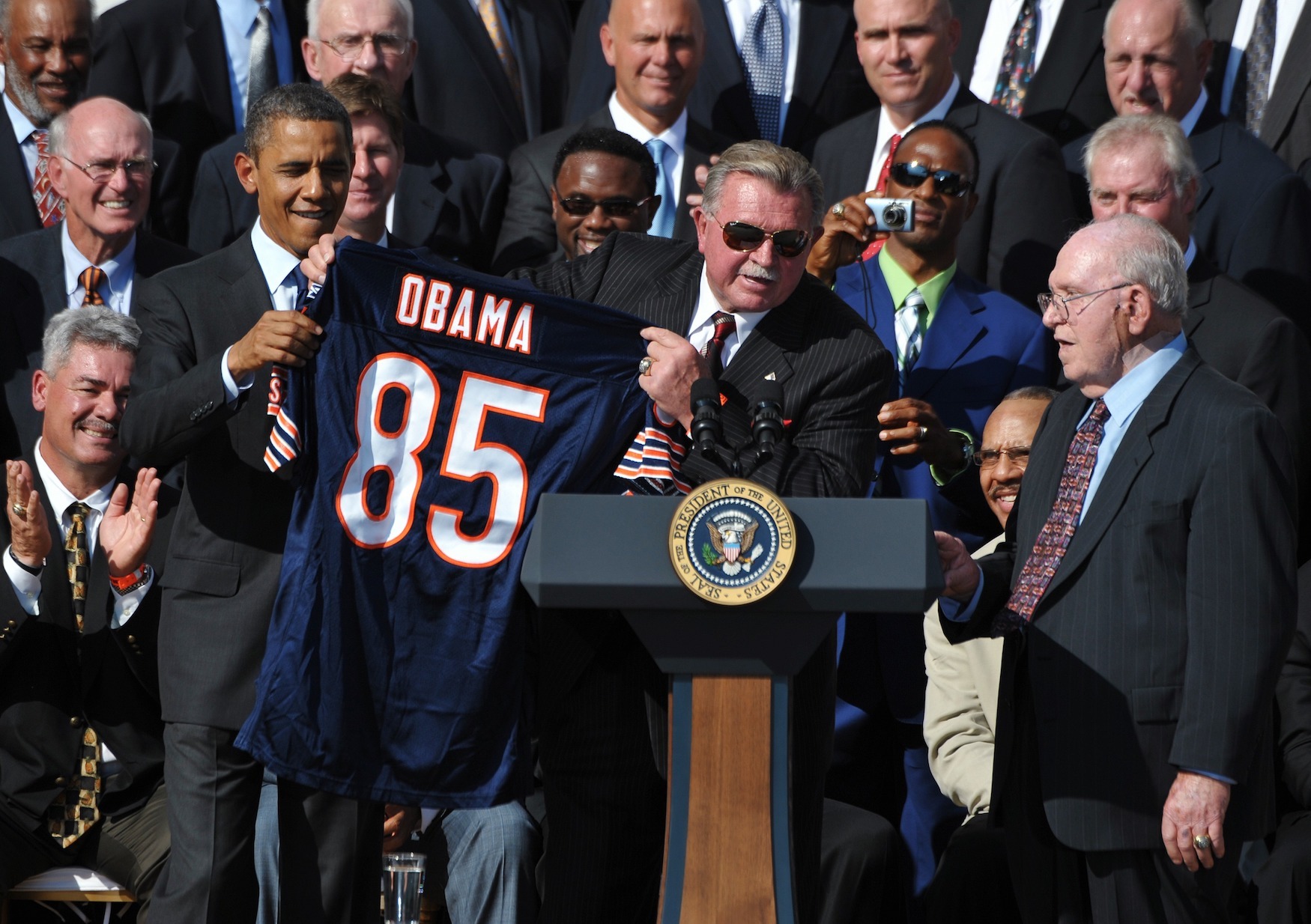 Mike Ditka could have run against Barack Obama in 2004, but decided against it.