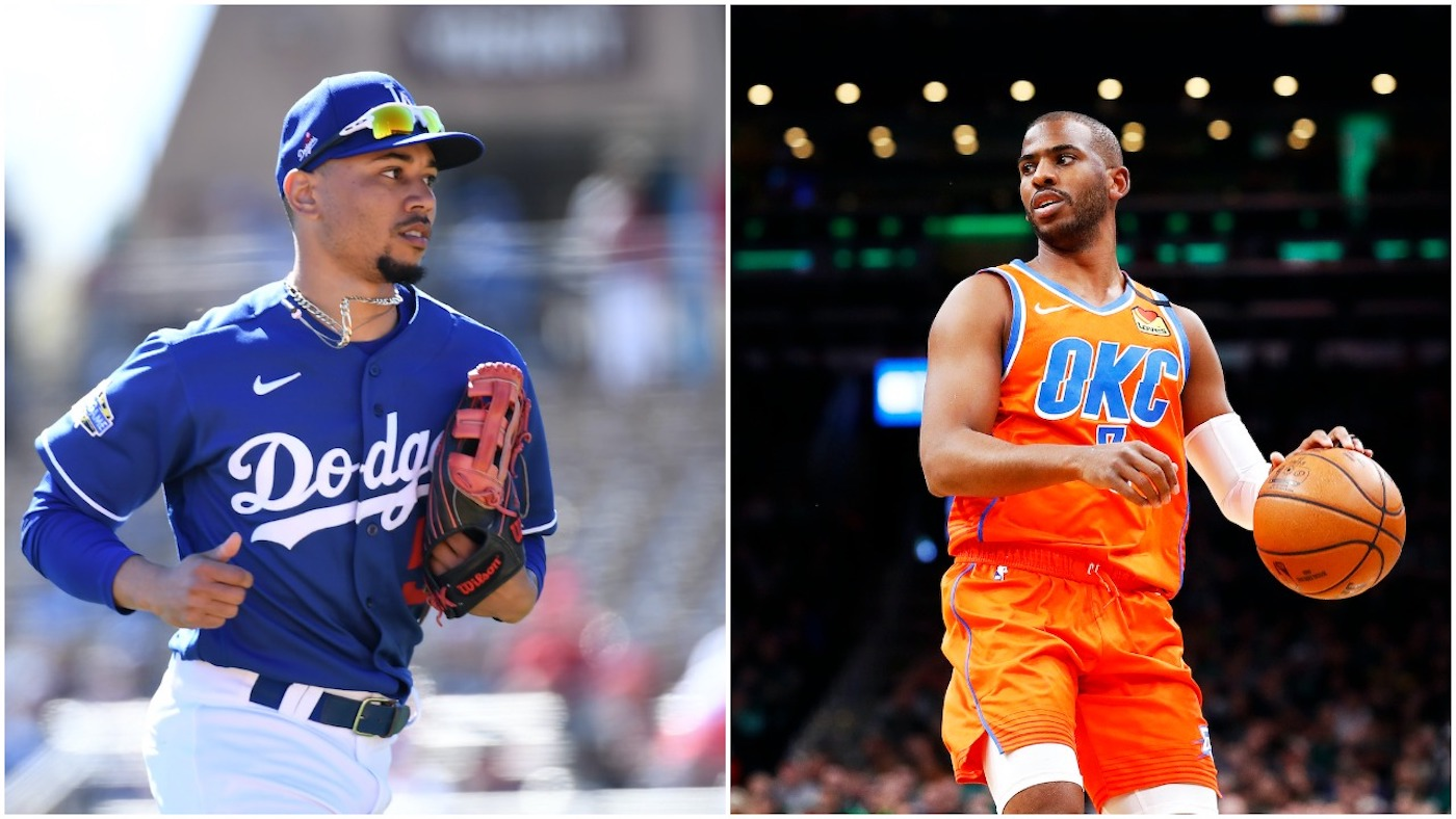 Mookie Betts and Chris Paul are baseball and basketball stars, respectively, but they're both good enough to go pro in another sport if they wanted.