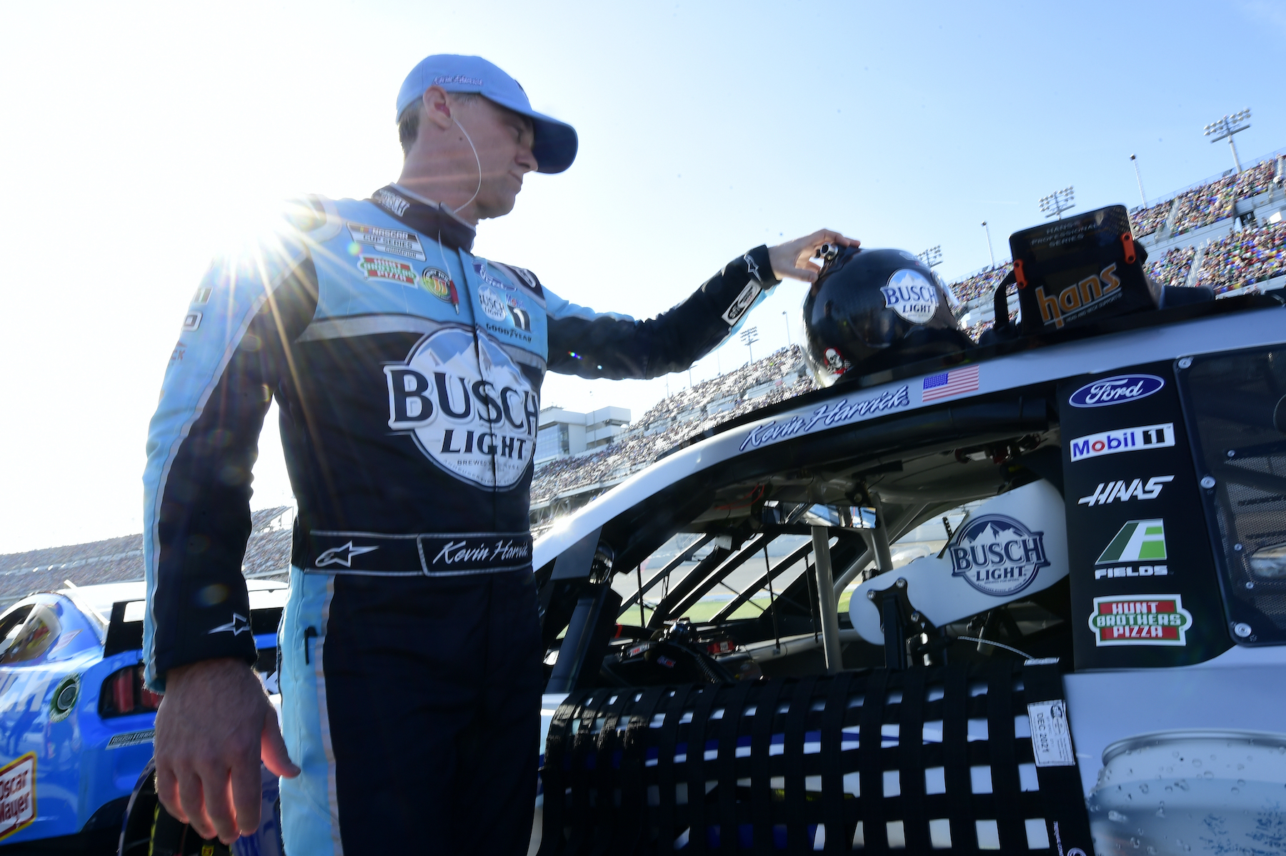 Kevin Harvick, driver of the #4 Busch Light Ford, during the 2020 Daytona 500