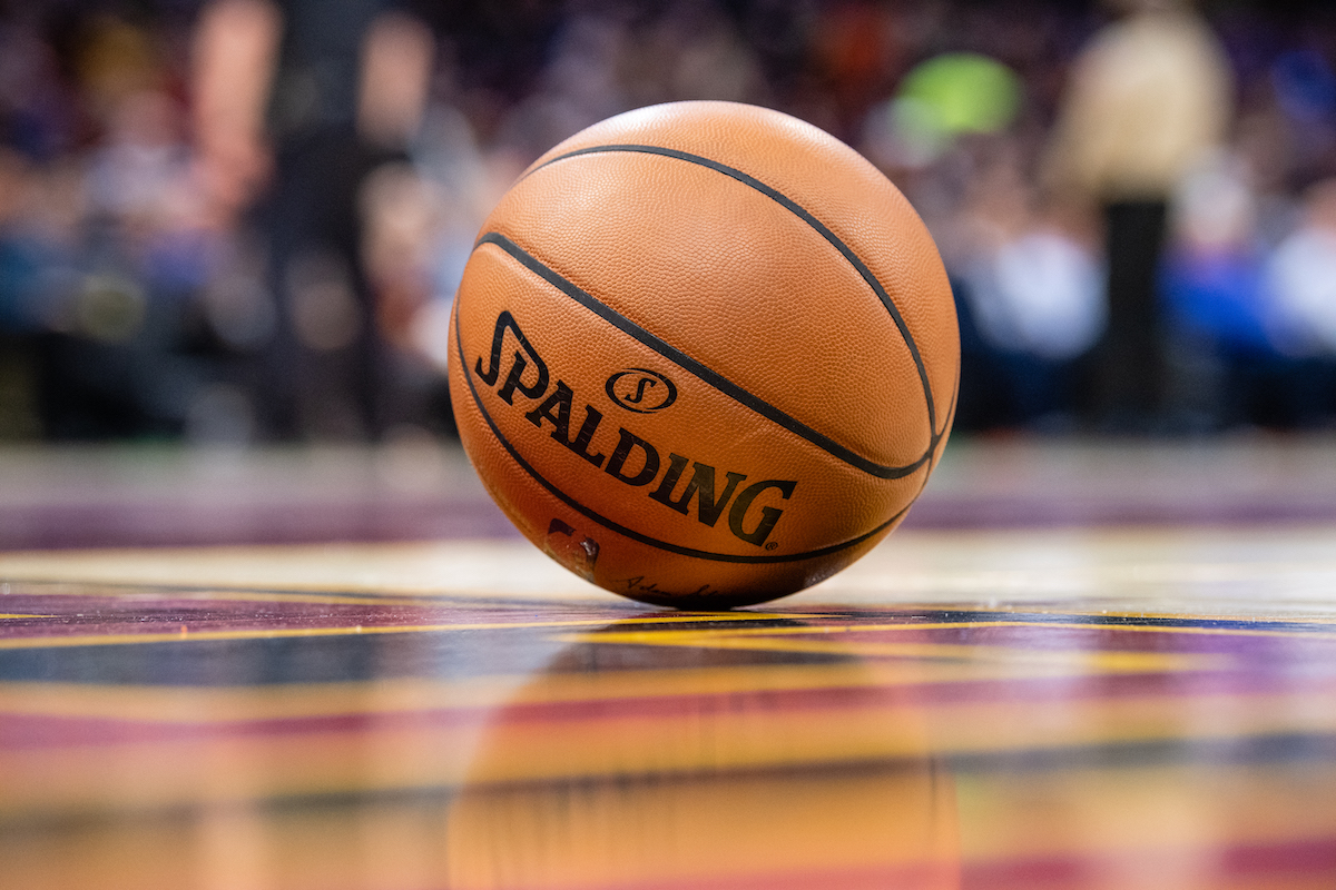 Official Spalding game basketball
