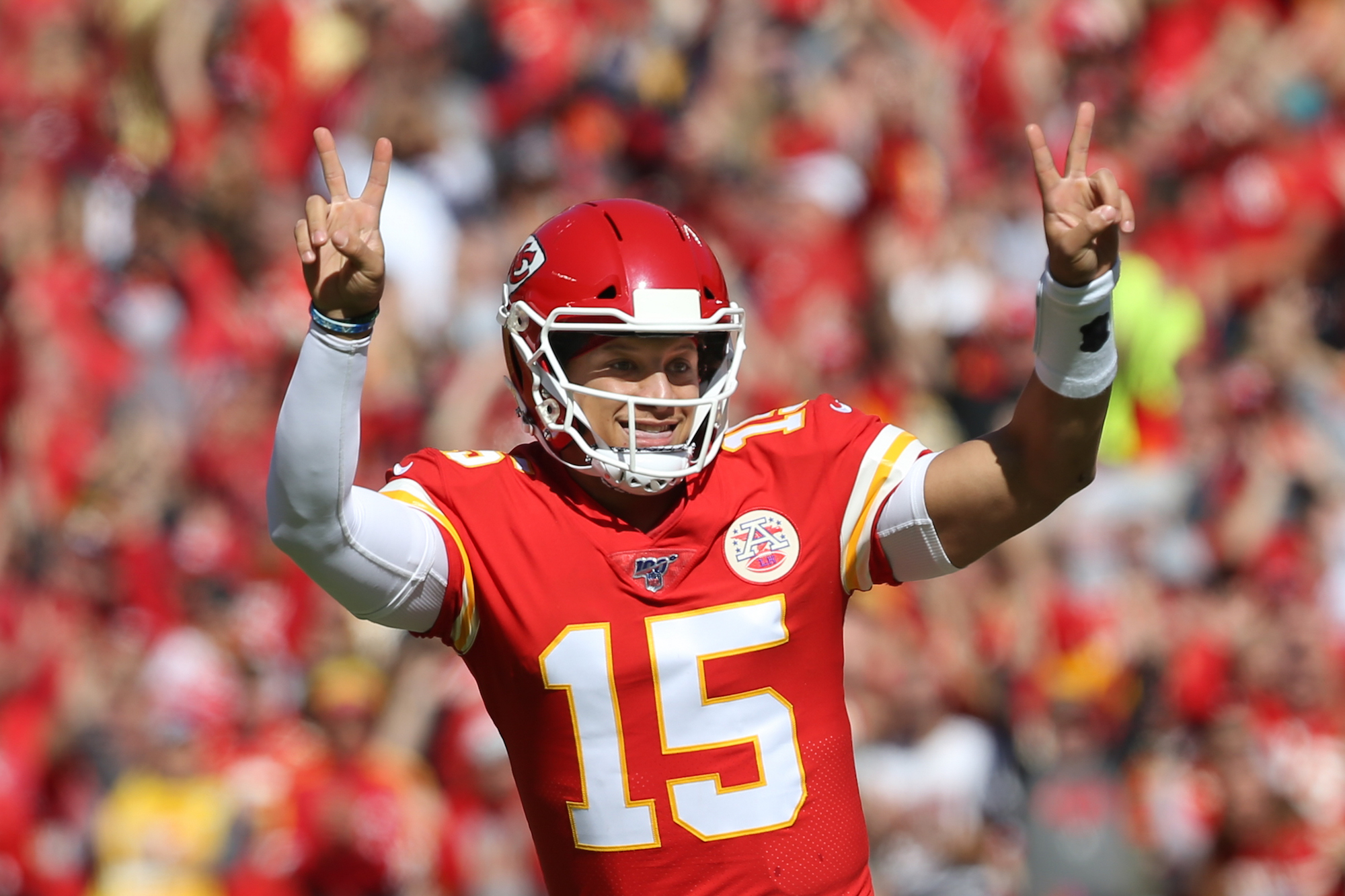 What are the 'guarantee mechanisms' that are included in Patrick Mahomes' new contract?