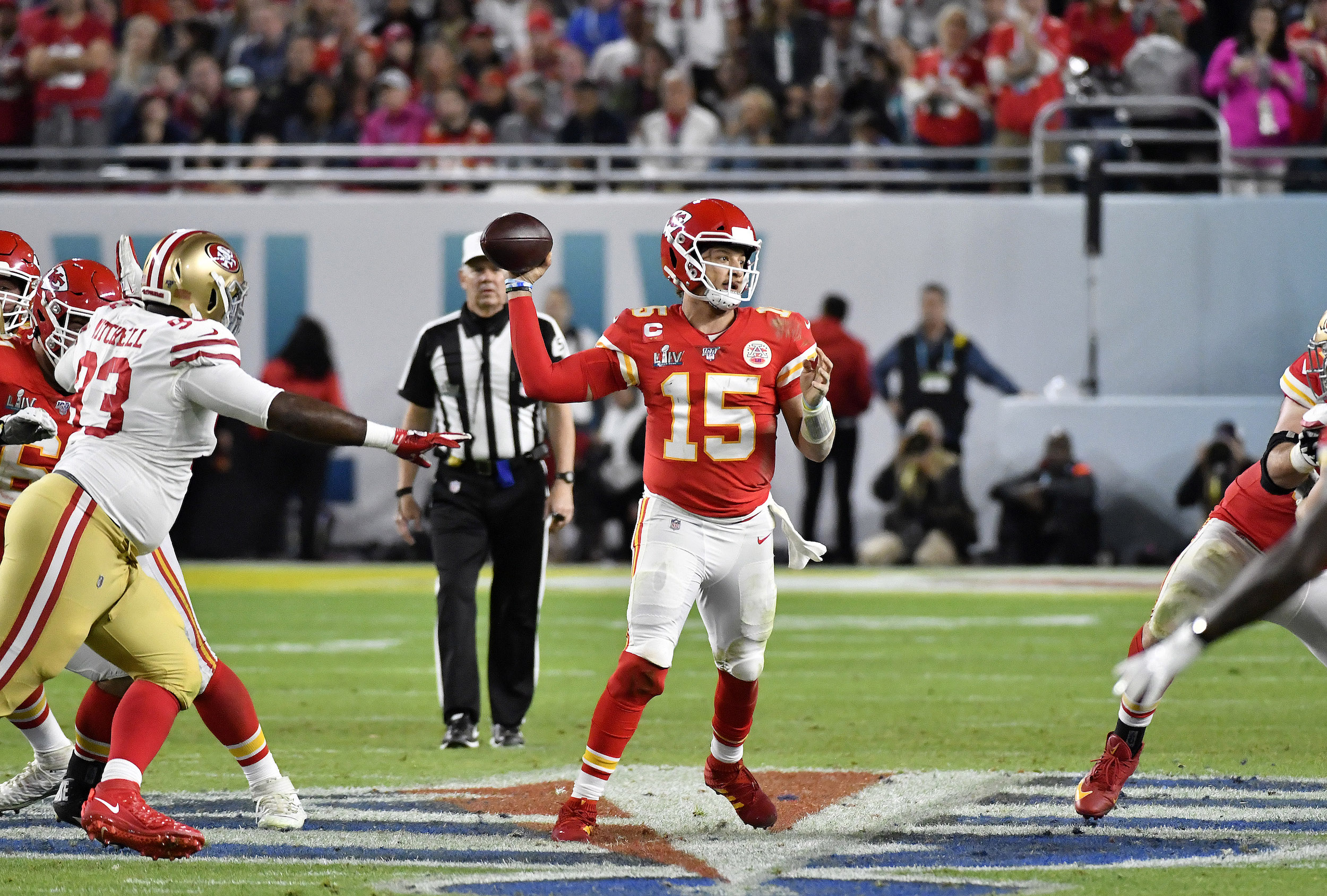 Kansas City Chiefs quarterback Patrick Mahomes has worn number 15 since he entered the NFL.
